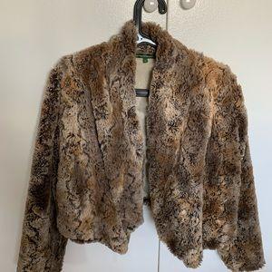 Gorgeous extremely soft faux-fur short vest